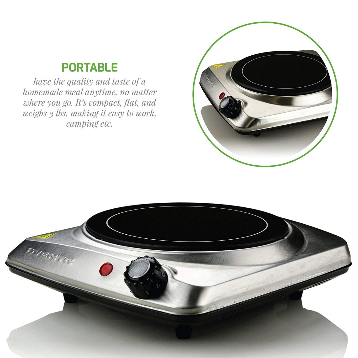 Ovente Countertop Burner
