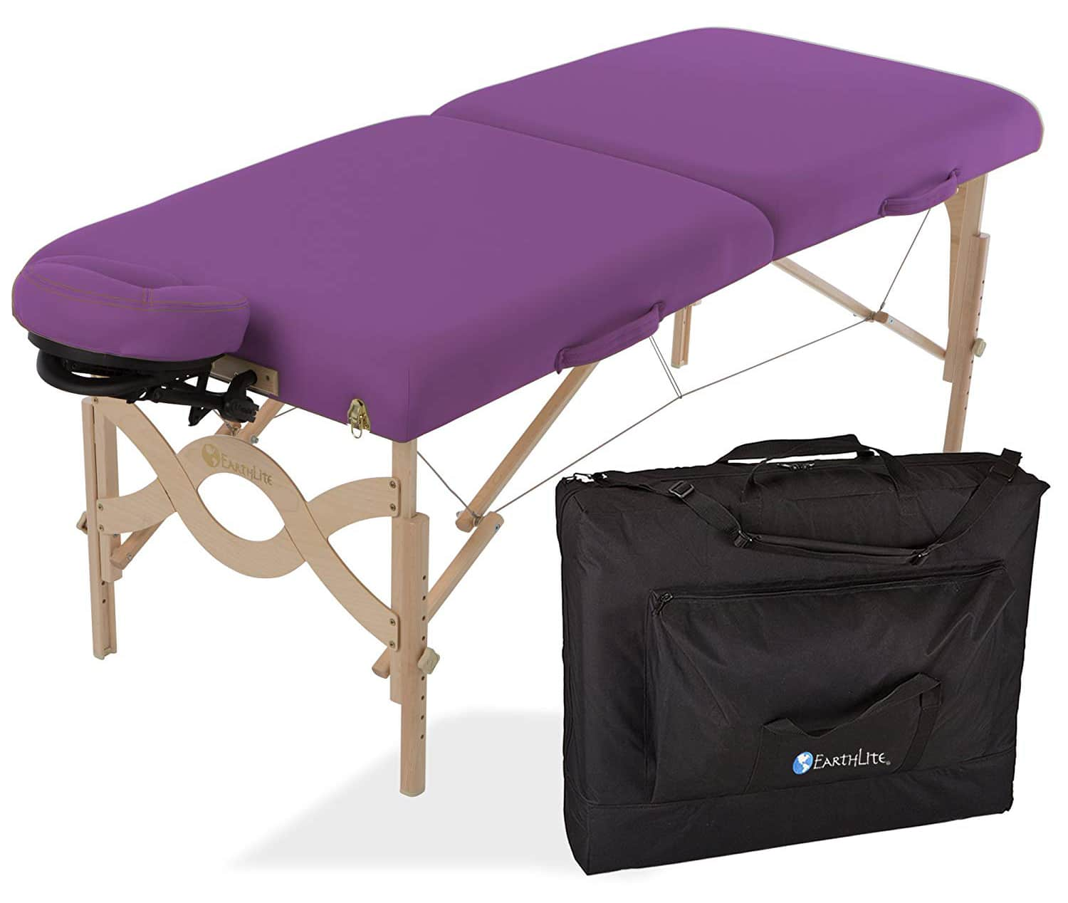 EARTHLITE Portable Massage Table Package AVALON – Reiki Endplate, Premium Flex-Rest Face Cradle & Strata Cushion