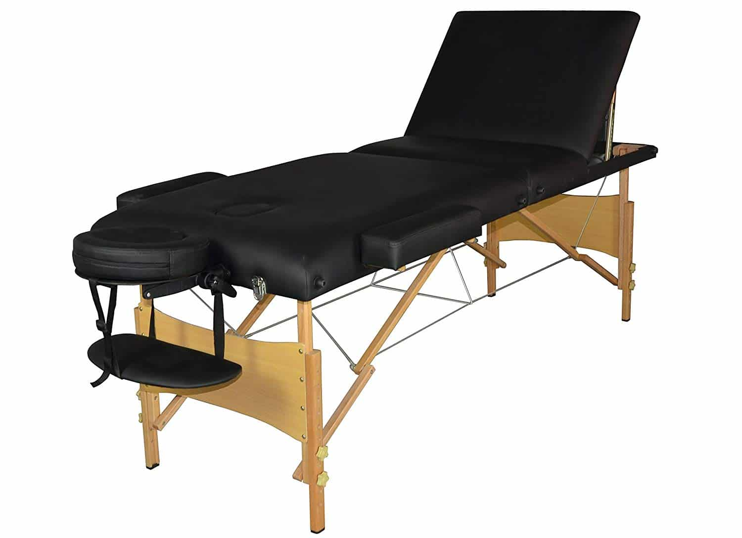 Massage Table Massage Bed Spa Bed 73 Inch Portable Heigh Adjustable 3 Folding Massage Table Salon Bed W/Carry Case