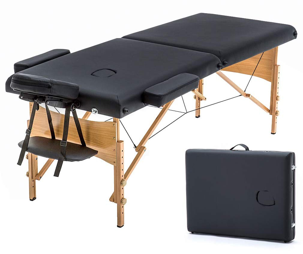 "Massage Table Portable Massage Bed Spa Bed 73"" Long 28"" Wide Hight Adjustable Massage Table 2 Folding Massage Bed Spa Bed Facial Cradle Salon Bed W/Carry Case"