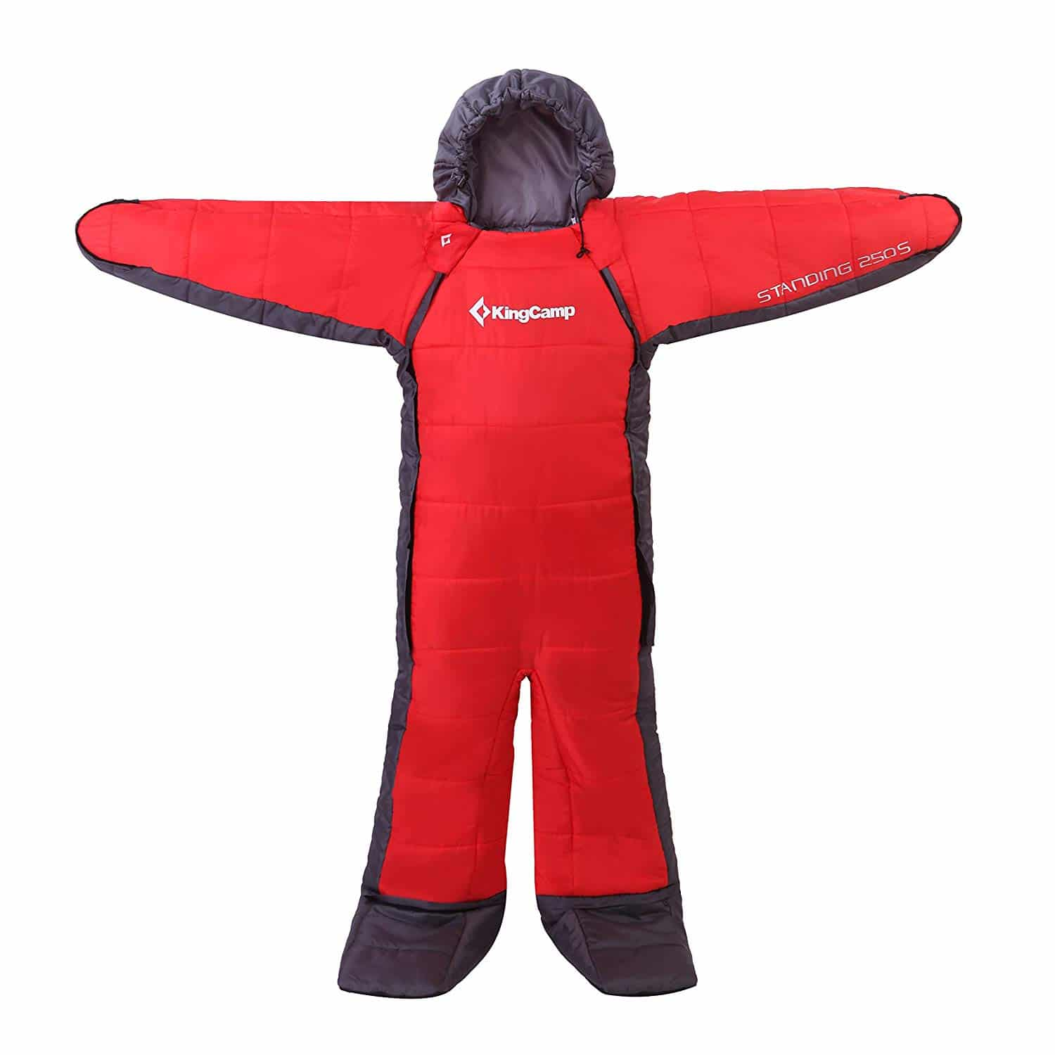KingCamp Standing 3 Season -8 Degree C/17.6 Degree F Full Body Wearable Sleeping Bag for Family, Free Walker Design (Youth, Adults)