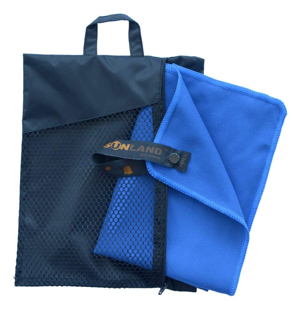 SUNLAND Microfiber Towel Ultra Compact Absorbent and Fast Drying Travel Sports Beach Towels