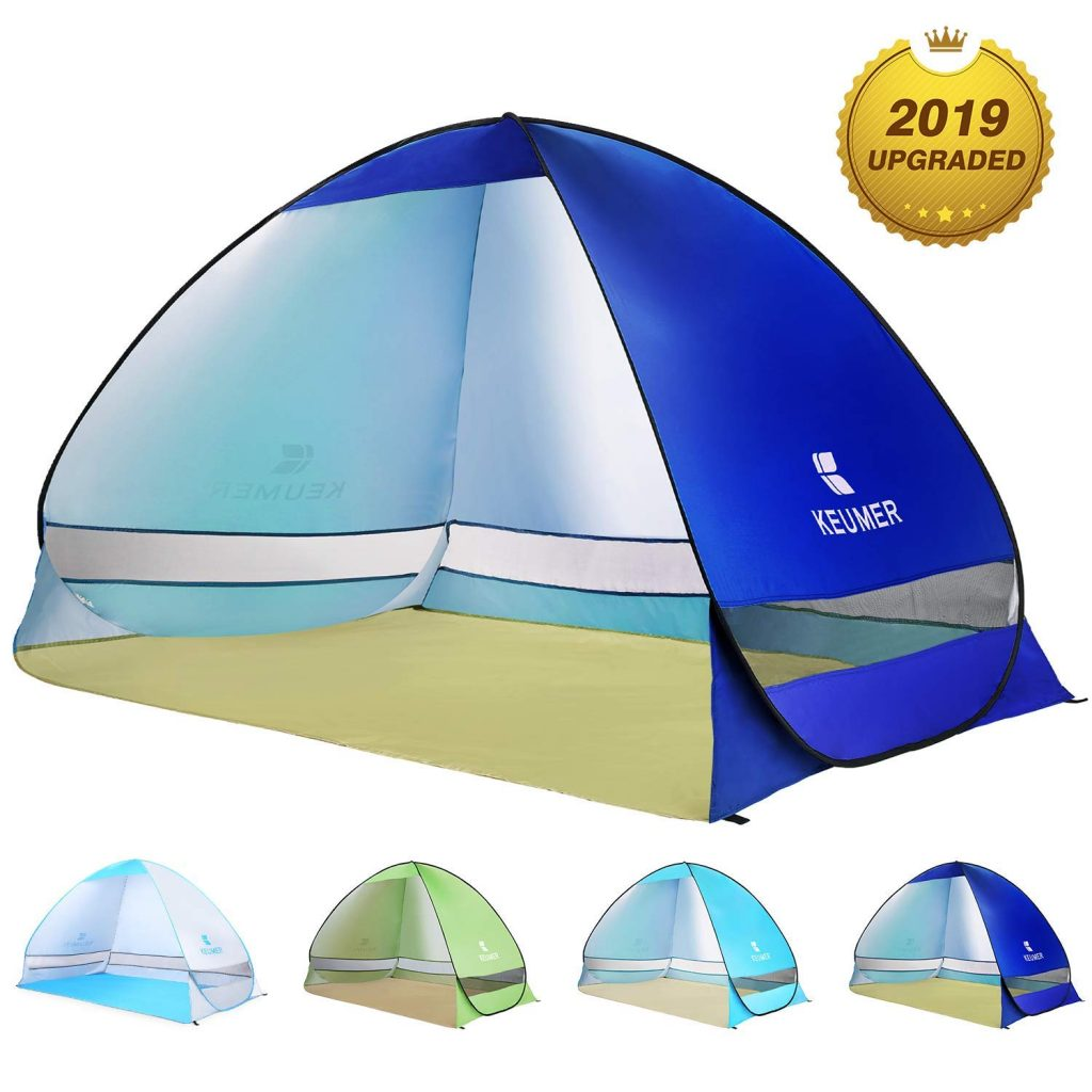 BATTOP Pop Up Beach Tent Sun Shelter Cabana Anti UV Beach Shelter for 2-3 Person Outdoor Sets up in Seconds(Darkblue)