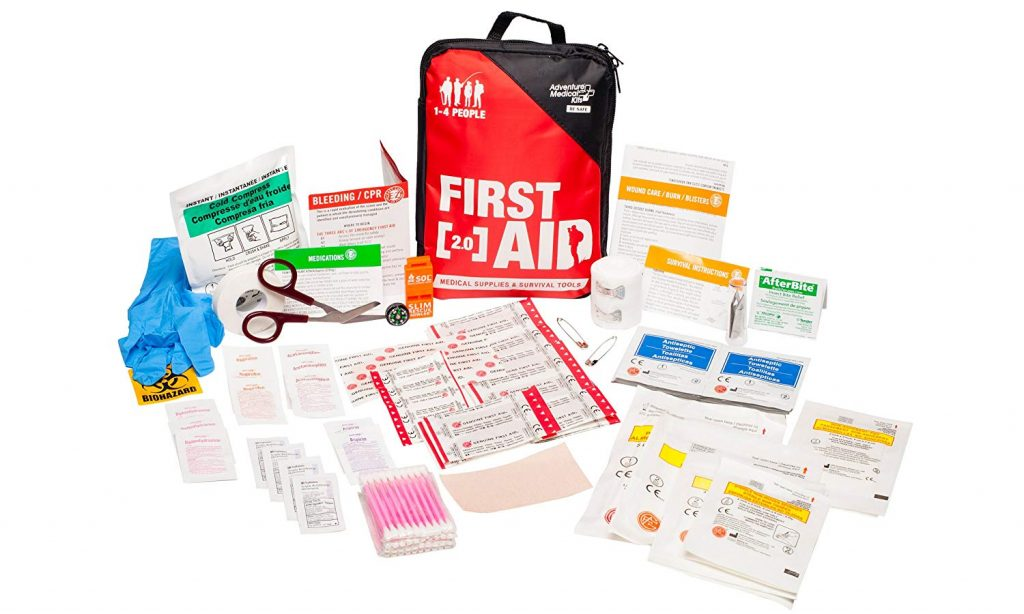 Adventure Medical Kits Adventure First Aid 2.0 First Aid Kit, Easy Care, Survival Items, Active Families, First Aid Essentials, Durable Case, Fully Stocked