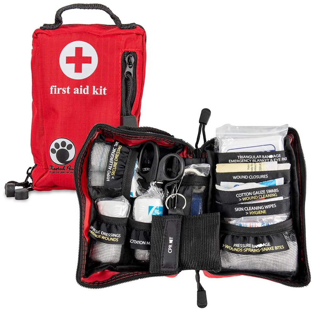 Cheetah Paw Small Complete First Aid Kit for Hiking, Backpacking, Camping, Travel, Car & Cycling. Be Ready for Any Emergency, Outdoor Adventure or at Home and Business