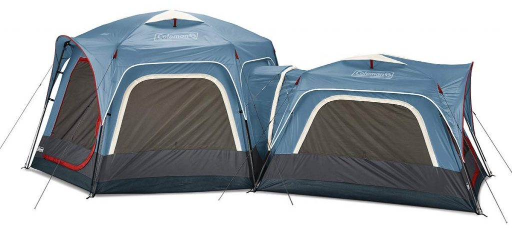 Coleman 3-Person & 6-Person Connectable Tent Bundle Connecting Tent System with Fast Pitch Setup, Set of 2, Blue