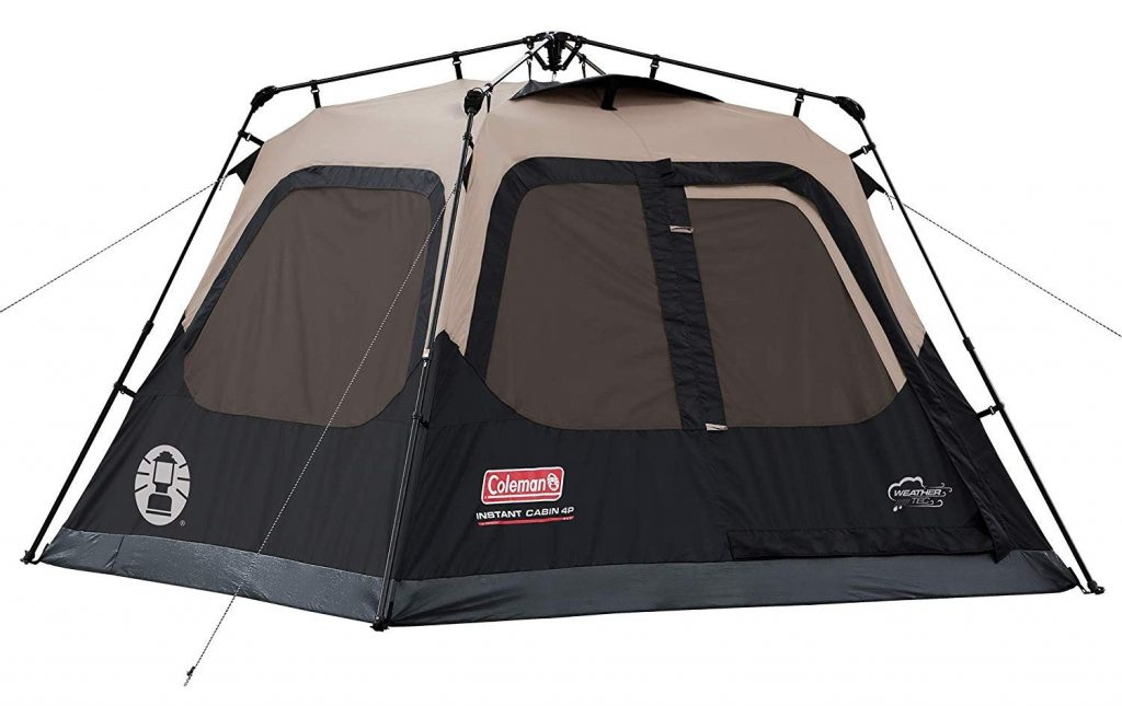 Coleman Cabin Tent with Instant Setup Cabin Tent for Camping Sets Up in 60 Seconds