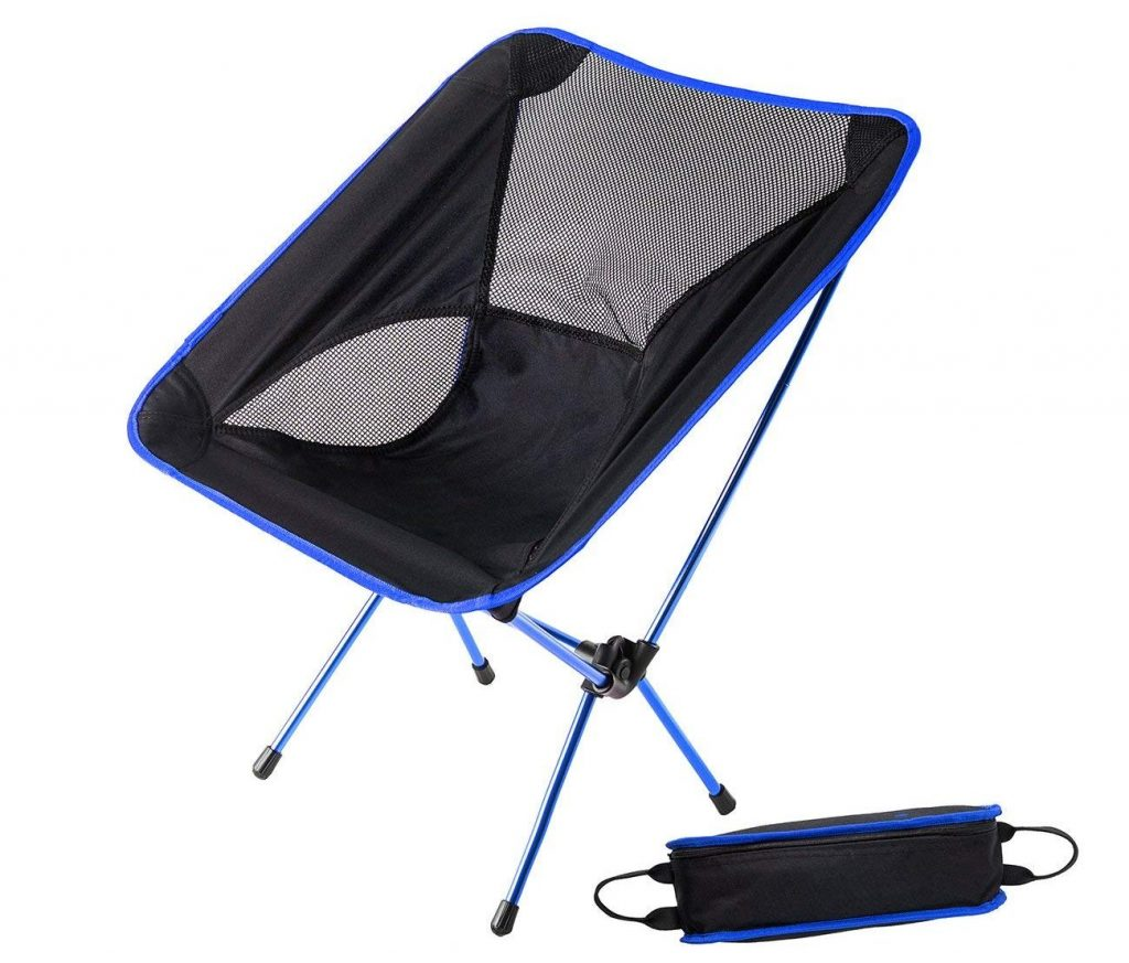 HASLE OUTFITTERS Camping Chair Portable Folding Ultralight Chair Backpacking Lightweight Outdoor Chair for Travel Picnic Hiking Beach Fishing
