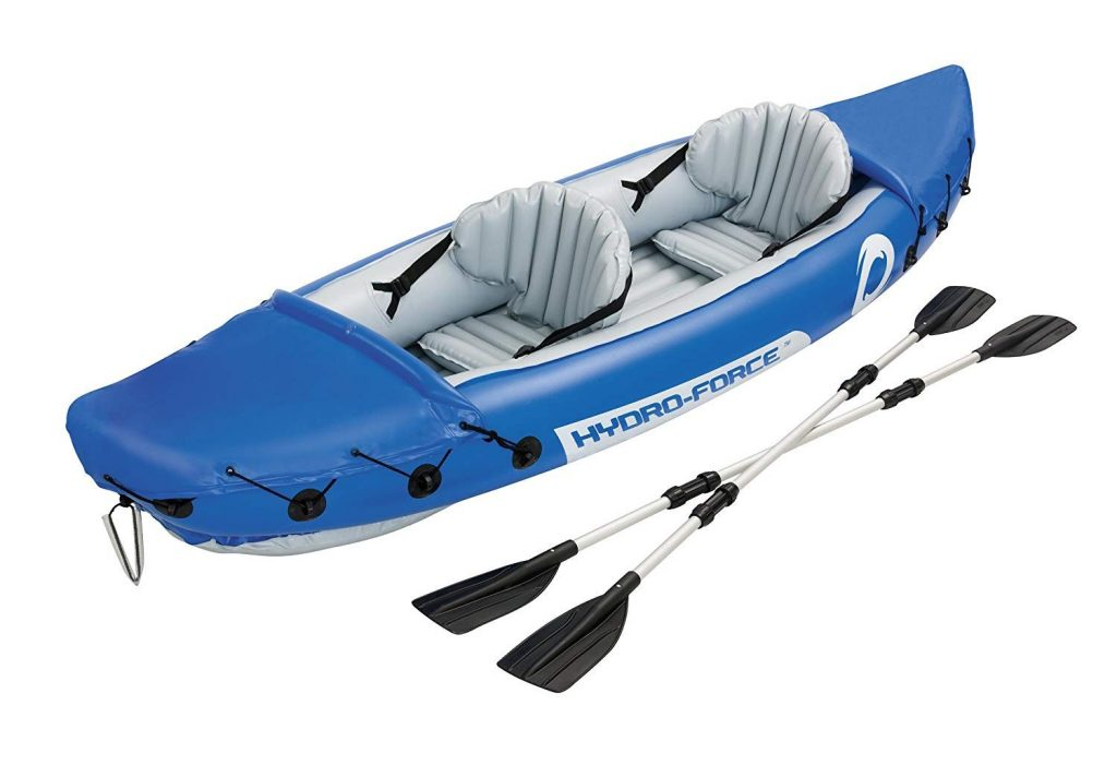 HydroForce Lite-Rapid X2 Inflatable Kayak with Oars