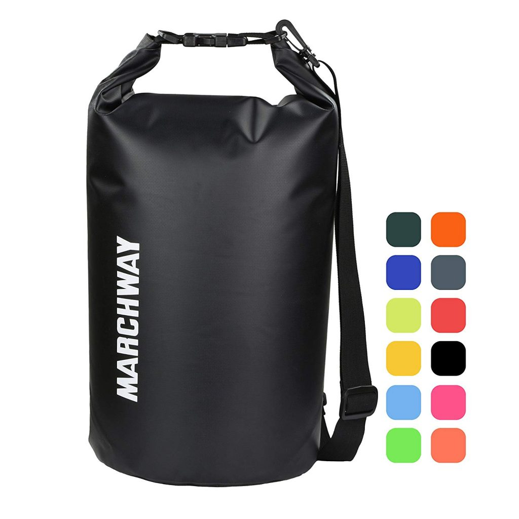 MARCHWAY Floating Waterproof Dry Bag 5L 10L 20L 30L 40L, Roll Top Sack Keeps Gear Dry for Kayaking, Rafting, Boating, Swimming, Camping, Hiking, Beach, Fishing