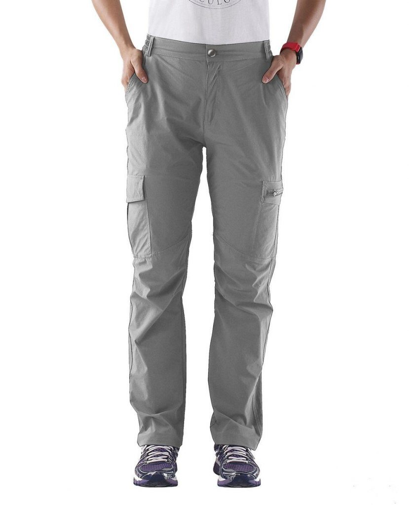 Nonwe Women's Outdoor Quick Dry Tactical Cargo Pants Light Gray XS 29 Inseam