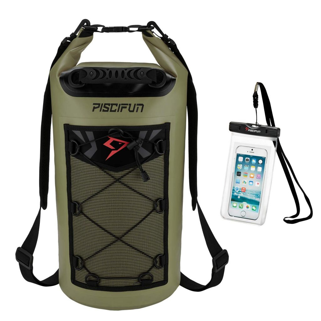 Piscifun Waterproof Dry Bag Backpack Floating Dry Backpack for Water Sports