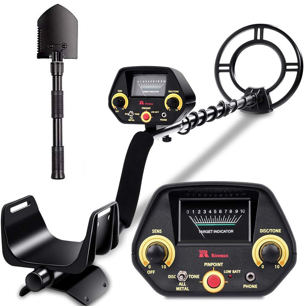 RM RICOMAX Metal Detector - High-Accuracy Metal Finder with Discrimination Mode, Tone Mode, View Meter