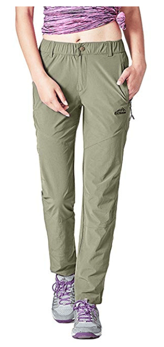 Rdruko Women's Outdoor Lightweight Quick Dry Sportswear Water Resistant Hiking Pants with Pockets