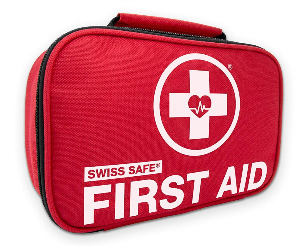 Swiss Safe 2-in-1 First Aid Kit (120 Piece) + Bonus 32-Piece Mini First Aid Kit - Compact, Lightweight for Emergencies at Home, Outdoors, Car, Camping, Workplace, Hiking & Survival