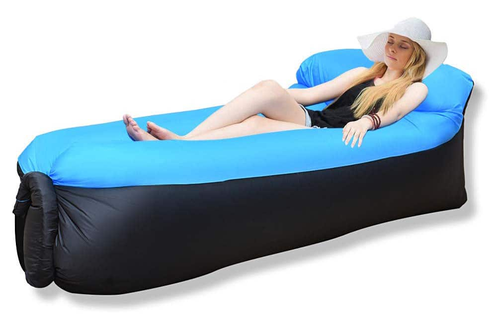 iRegro Inflatable Lounger, Air Sofa Hammock with Headrest, Waterproof & Anti-Air Leaking, Comfortable Inflatable Couch