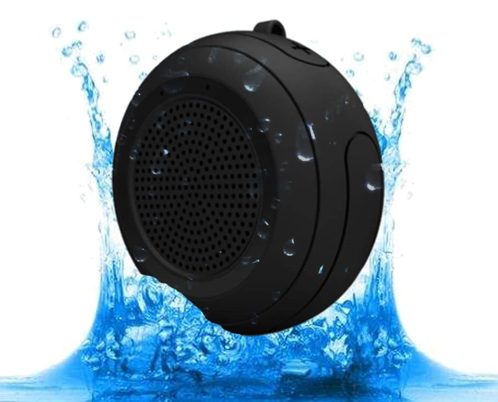 CYBORIS IPX7 Waterproof Outdoor Bluetooth Speaker Swimming Pool Floating Portable Mini Speakers Wireless 5W with Microphone & TWS for Beach, Bathroom, Home, Shower (Black)