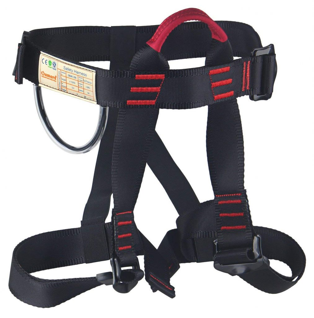 Climbing Harness, Oumers Safe Seat Belts for Mountaineering Tree Climbing Outdoor Training Caving Rock Climbing Rappelling Equip
