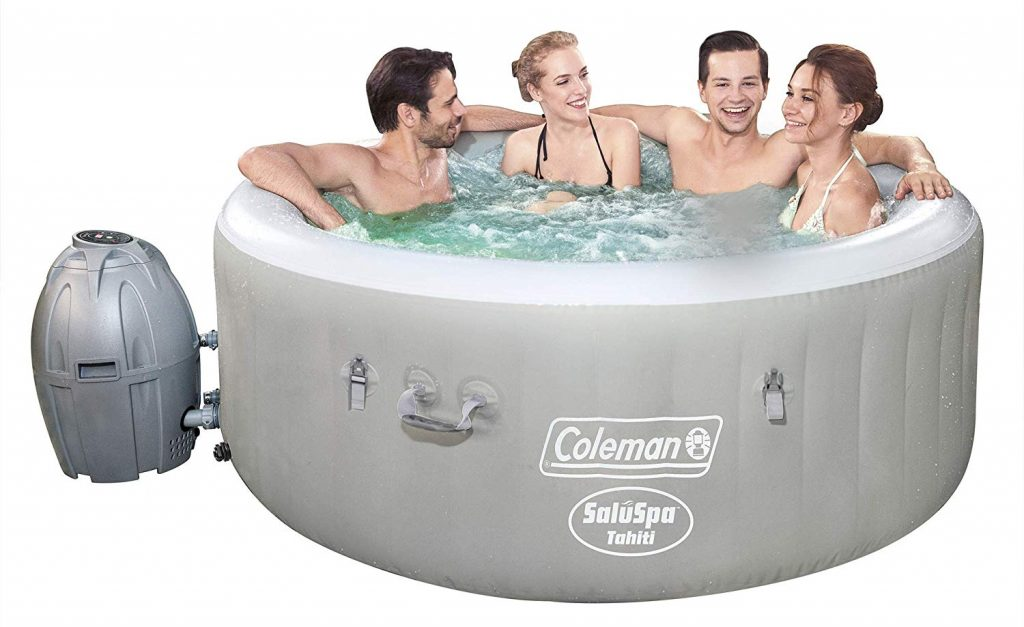 Coleman Saluspa 71in x 26in Tahiti Airjet Hot Tub Spa (Gray)