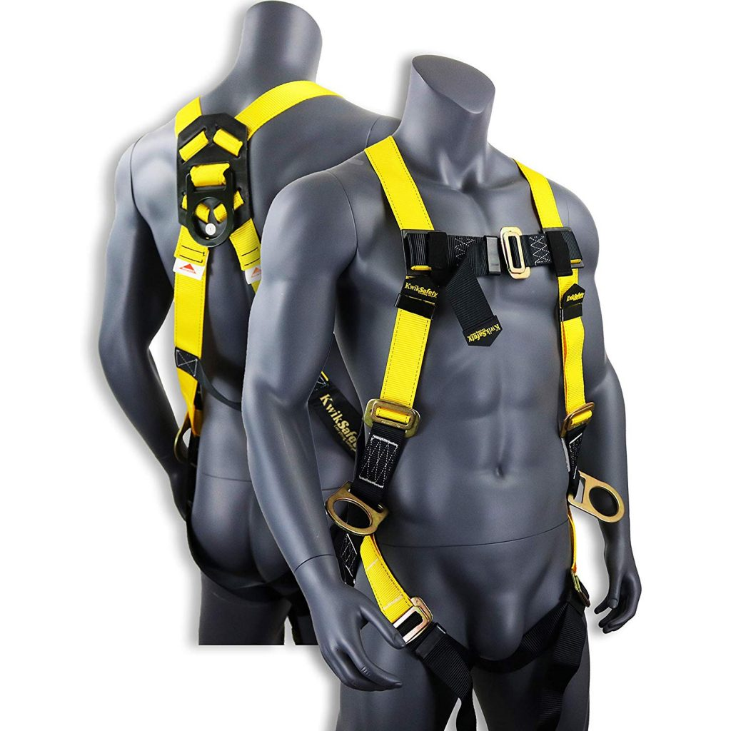 KwikSafety (Charlotte, NC) THUNDER 3D Ring Safety Harness (PASS THROUGH CONNECTORS) OSHA ANSI Industrial Full Body Fall Protection Personal Equipment Construction Carpenter Scaffolding Contractor
