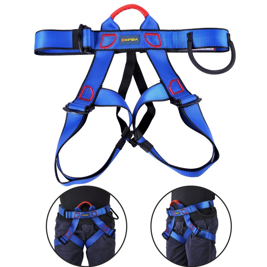 UCEC Climbing Harness Safe Seat Belt, for Fire Rescue, High Altitude Rock Climbing, Rappelling Equipment, Half Body Guard Protect