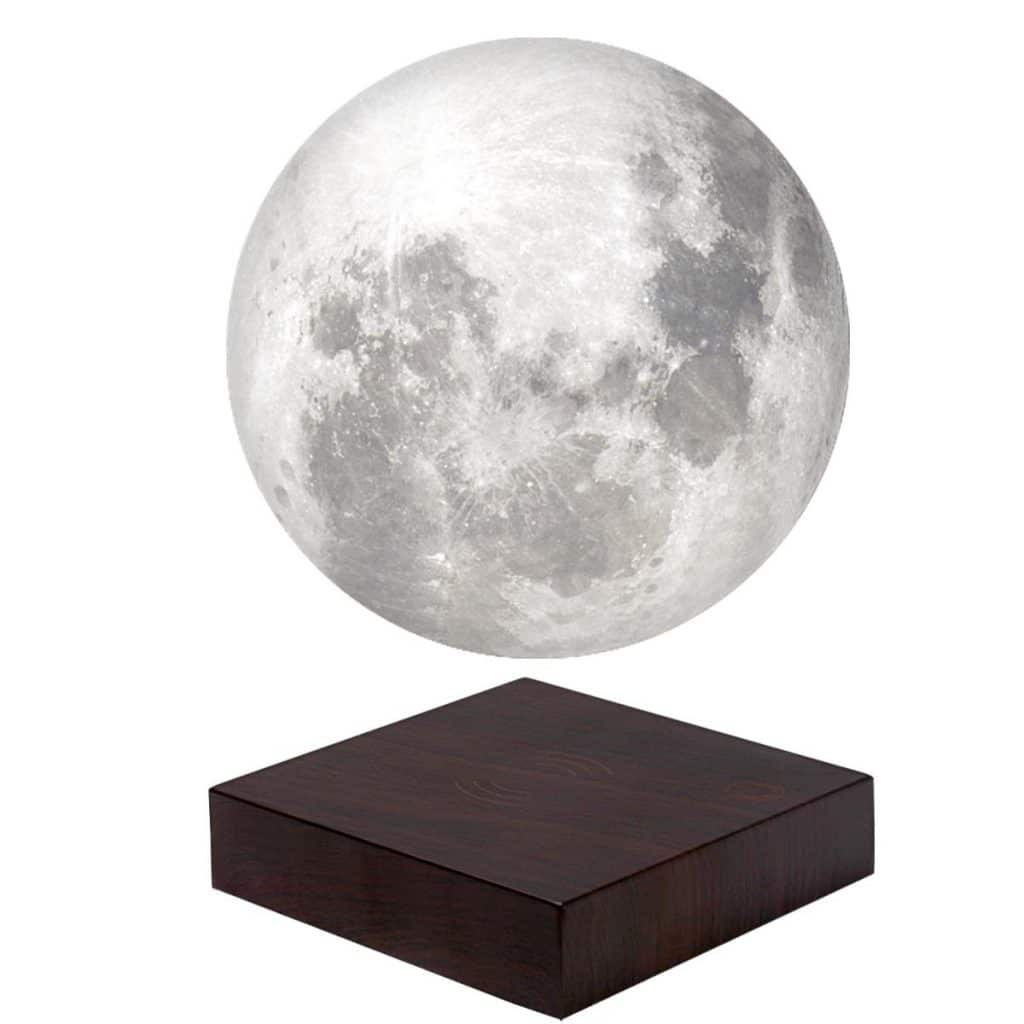 VGAzer Moon Lamp 3D Printing Magnetic Levitating Moon Light Lamps for Home、Office Decor, Creative Gift-6 Inch (White)