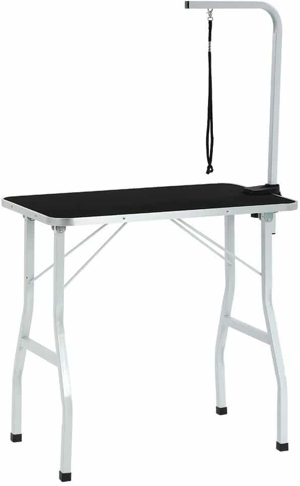 BestPet Dog Grooming Table Adjustable Heavy Duty Pet Cat Grooming Table with Arm​ and Noose