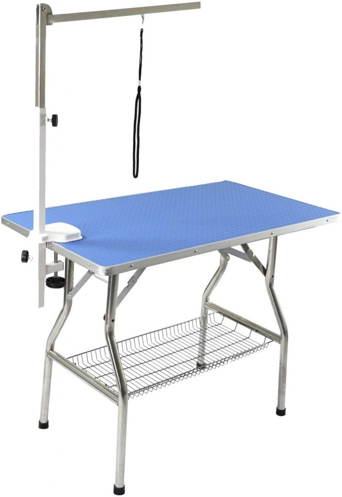 Flying Pig 32inch Small Size Heavy Duty Stainless Steel Frame Foldable Dog Pet Grooming Table