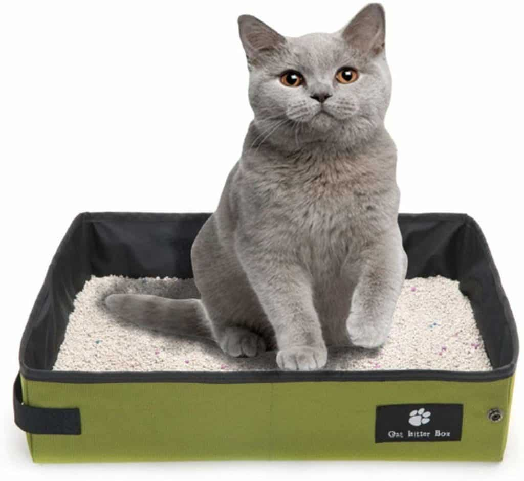 Misyue Cat Collapsible Litter Box Soft Foldable Waterproof Pet Cat Litter Pan Portable for Travel