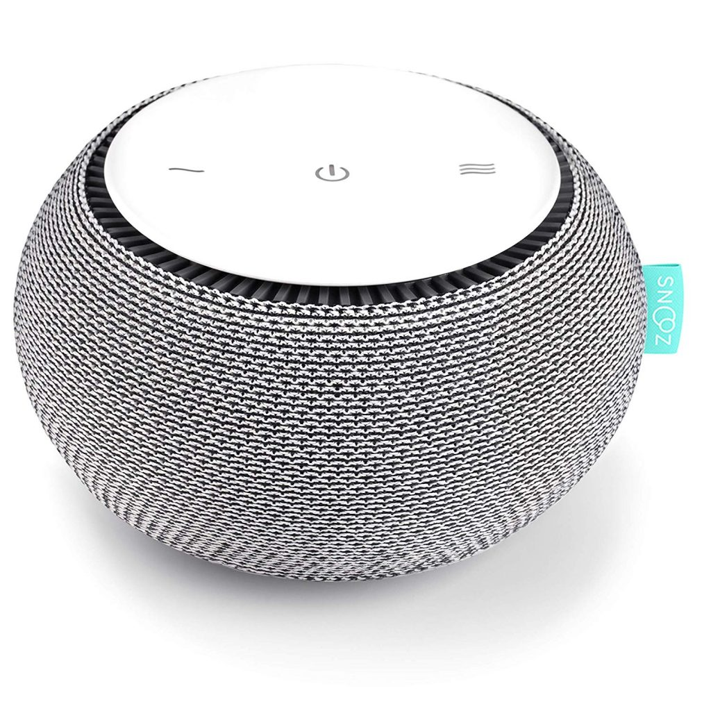 SNOOZ White Noise Sound Machine - Real Fan Inside for Non-Looping White Noise Sounds