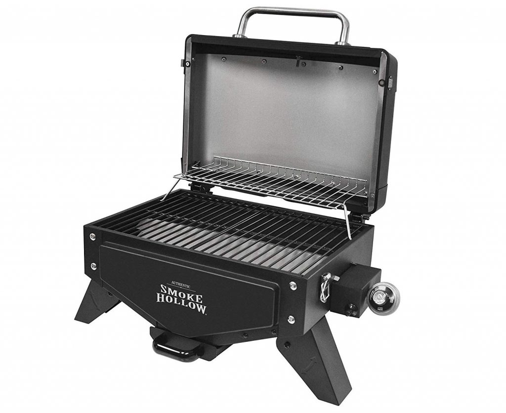 Smoke Hollow VT280B1 Vector Series, Portable Table Top Propane Gas Grill with Warming Rack