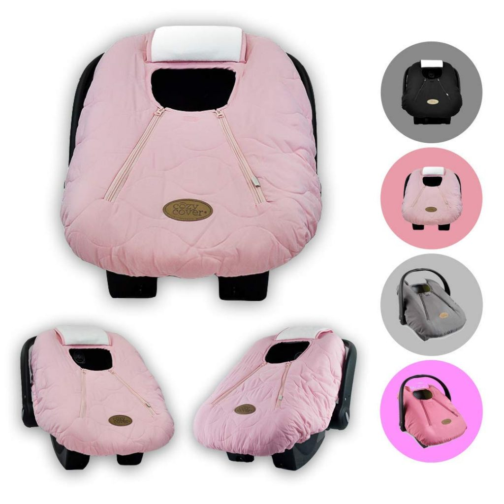 Cozy Cover Infant Car Seat Cover (Pink Quilt) - The Industry Leading Infant Carrier Cover Trusted by Over 5.5 Million Moms Worldwide for Keeping Your Baby Cozy & Warm