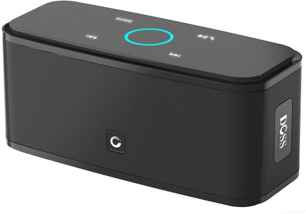 DOSS SoundBox Touch Wireless Bluetooth V4.0 Portable Speaker with HD Sound and Bass, 12H Playtime, Built-in Mic, Portable Wireless Speaker Compatible with Phone, Tablet, TV and Gift Ideas