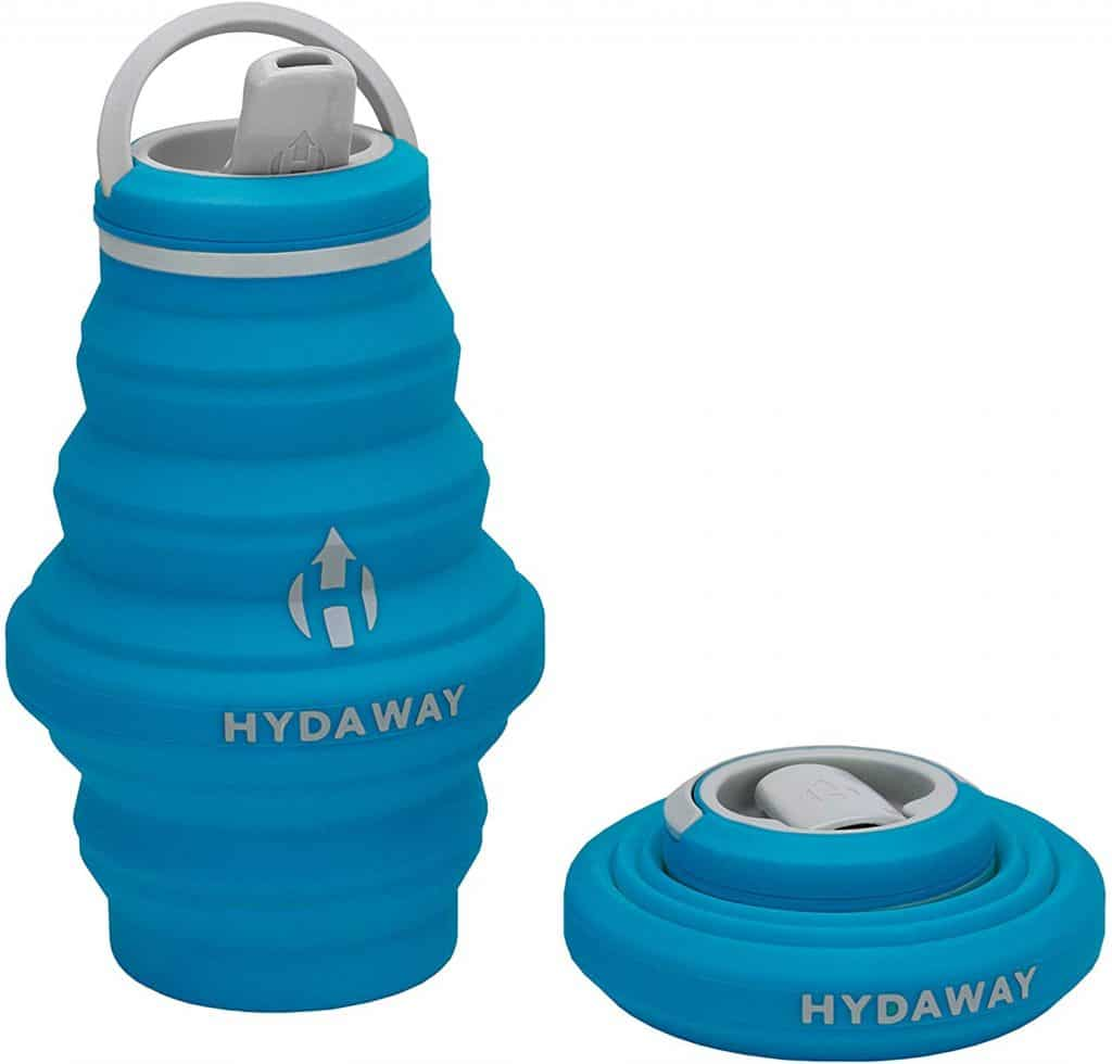 HYDAWAY Collapsible Water Bottle, 17 oz Spout Lid | Ultra-Packable, Travel-Friendly, Food-Grade Silicone