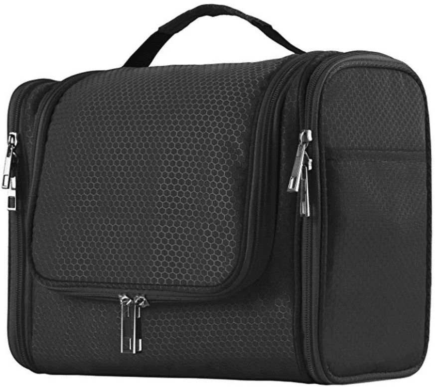 Hanging Toiletry Bag for Men & Women, Portable Waterproof Bathroom Shower Bag, Lightweight Dopp kit Shaving Bag, Sturdy Metal Hook Organizer Makeup Bag