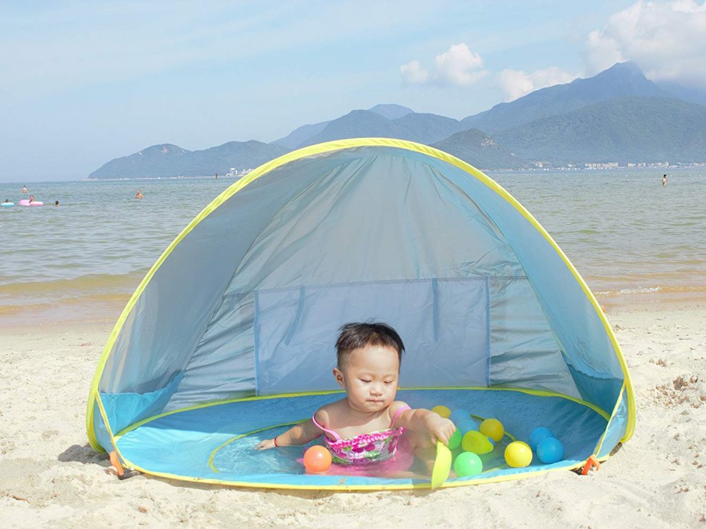 Monobeach Baby Beach Tent Pop Up Portable Shade Pool UV Protection Sun Shelter for Infant