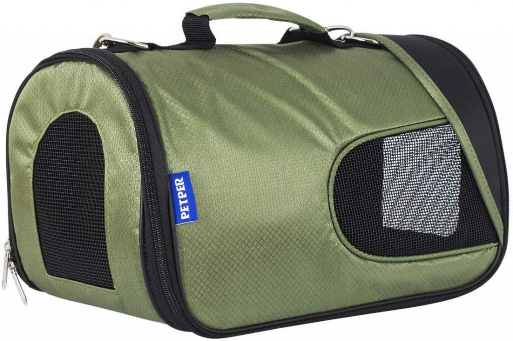 Petper Cat Carrier Airline Approved Pet Soft Sided Carrier for Cat Small Dog Outside Travel Bag