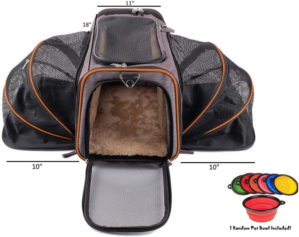 Premium Airline Approved Expandable Pet Carrier by Pet Peppy- Two Side Expansion, Designed for Cats, Dogs, Kittens,Puppies - Extra Spacious Soft Sided Carrier
