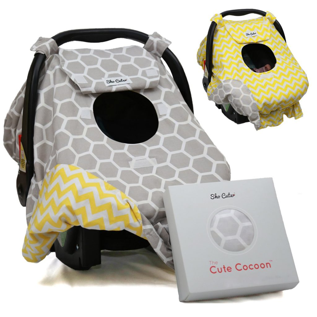 Sho Cute - [Reversible] Carseat Canopy | All Season Baby Car Seat Cover Boy or Girl