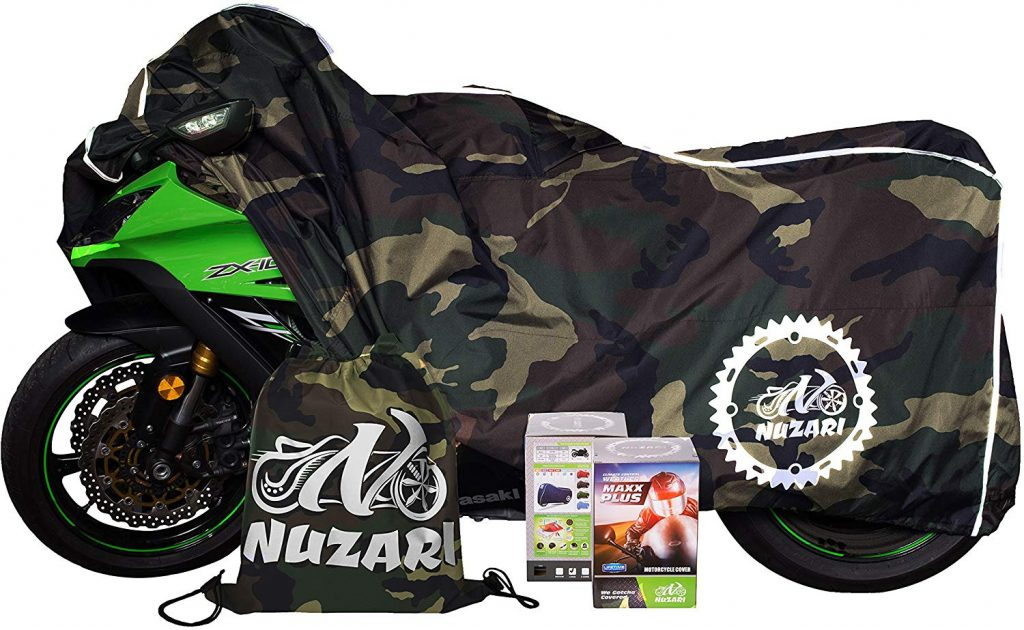 Breathable Motorcycle Cover W/elastic Bottom. Premium Heavy Duty Outdoor Waterproof All Season Polyester W/soft Screen Shield