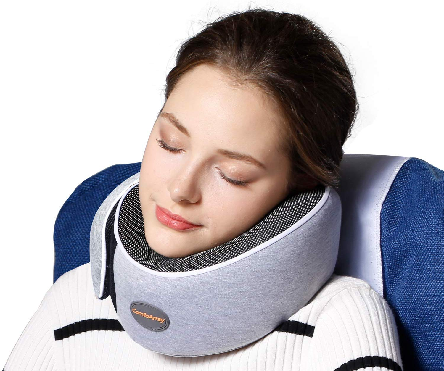 ComfoArray Travel Pillow, Neck Pillow with Head Support Design, Travel Pillow for Airplanes