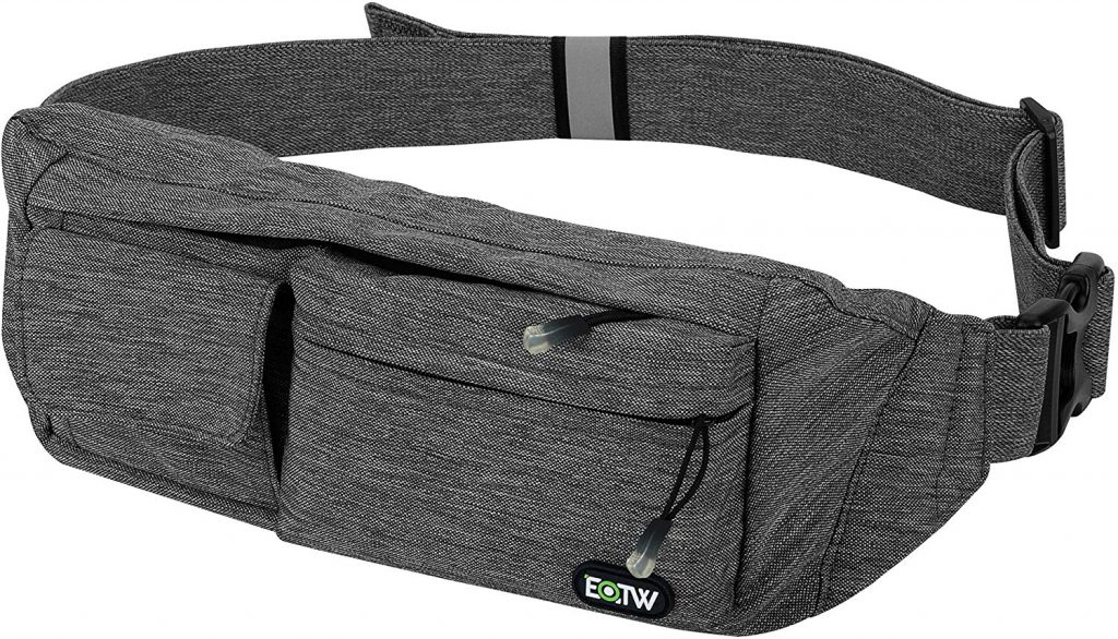EOTW Fanny Pack Waist Bag Travel Pocket Chest Shoulder Bag Running Belt with Separate Pockets, Adjustable Band for Workout Vacation Hiking for iPhone X XR 6 6S Plus, Galaxy S10 S8
