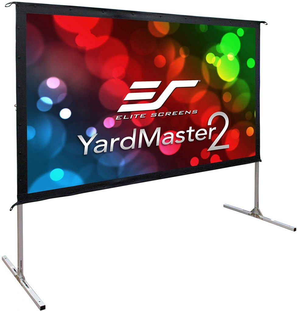 "Elite Screens Yard Master 2, 120 inch Outdoor Projector Screen with Stand 16:9, 8K 4K Ultra HD 3D Fast Folding Portable Movie Theater Cinema 120"" Indoor Foldable Easy Snap Projection Screen"