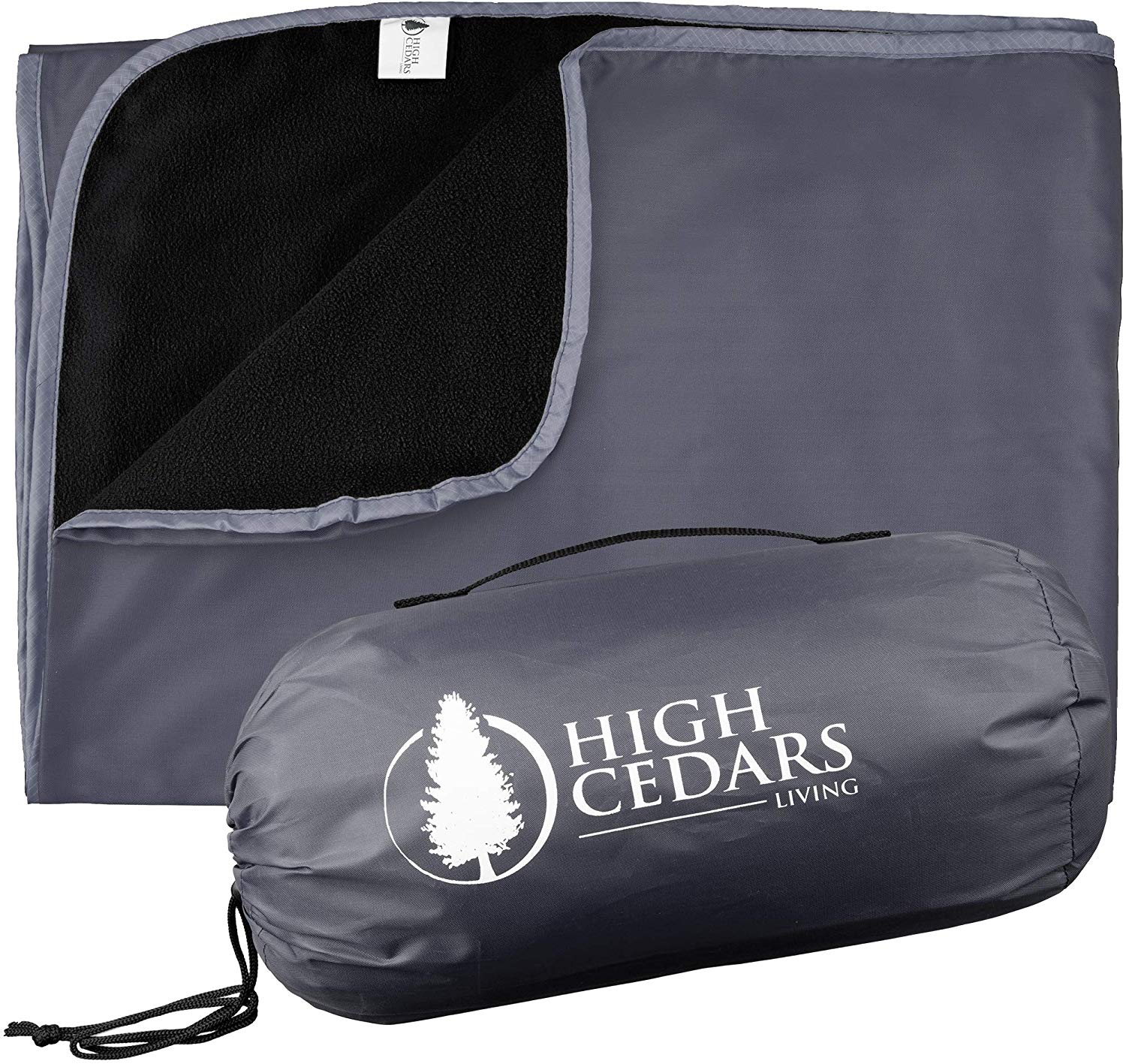 High Cedars Living XL Outdoor Waterproof Blanket, Stadium Throw with Fleece, Windproof, Rainproof, Sandproof Mat