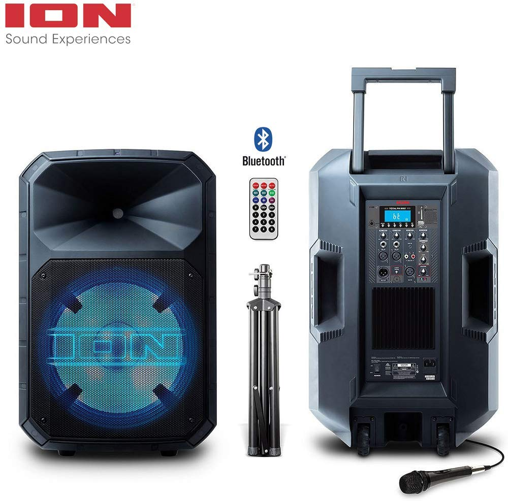 ION Audio Total PA Max All-in-One High Power 500-Watt BiAmplified Sound System IPA91