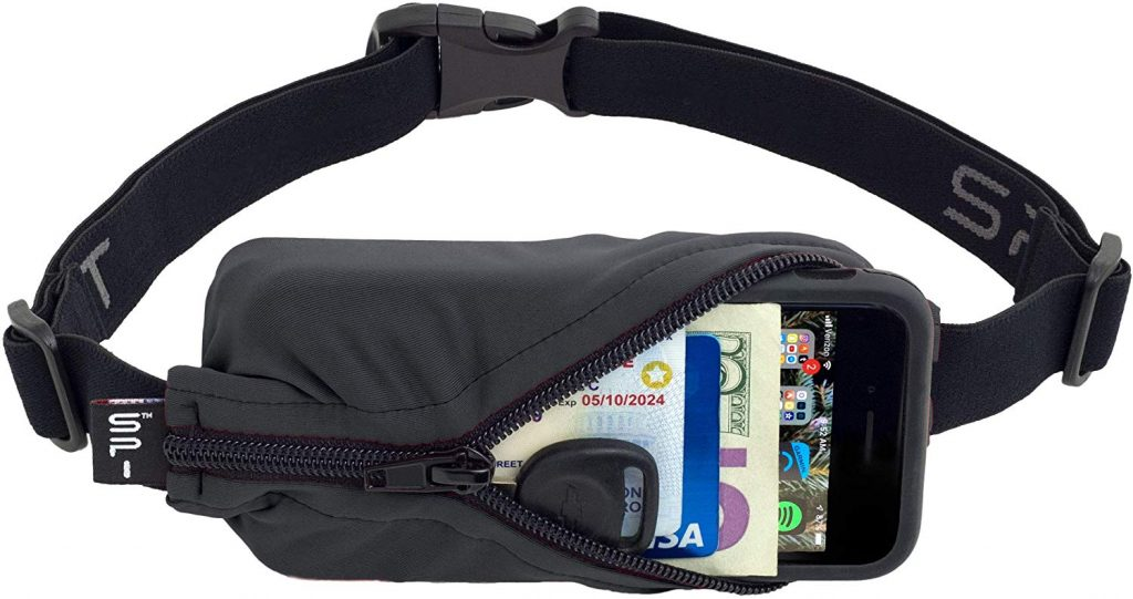 SPIbelt Running Belt Original Pocket, No-Bounce Waist Bag for Runners Athletes Men and Women