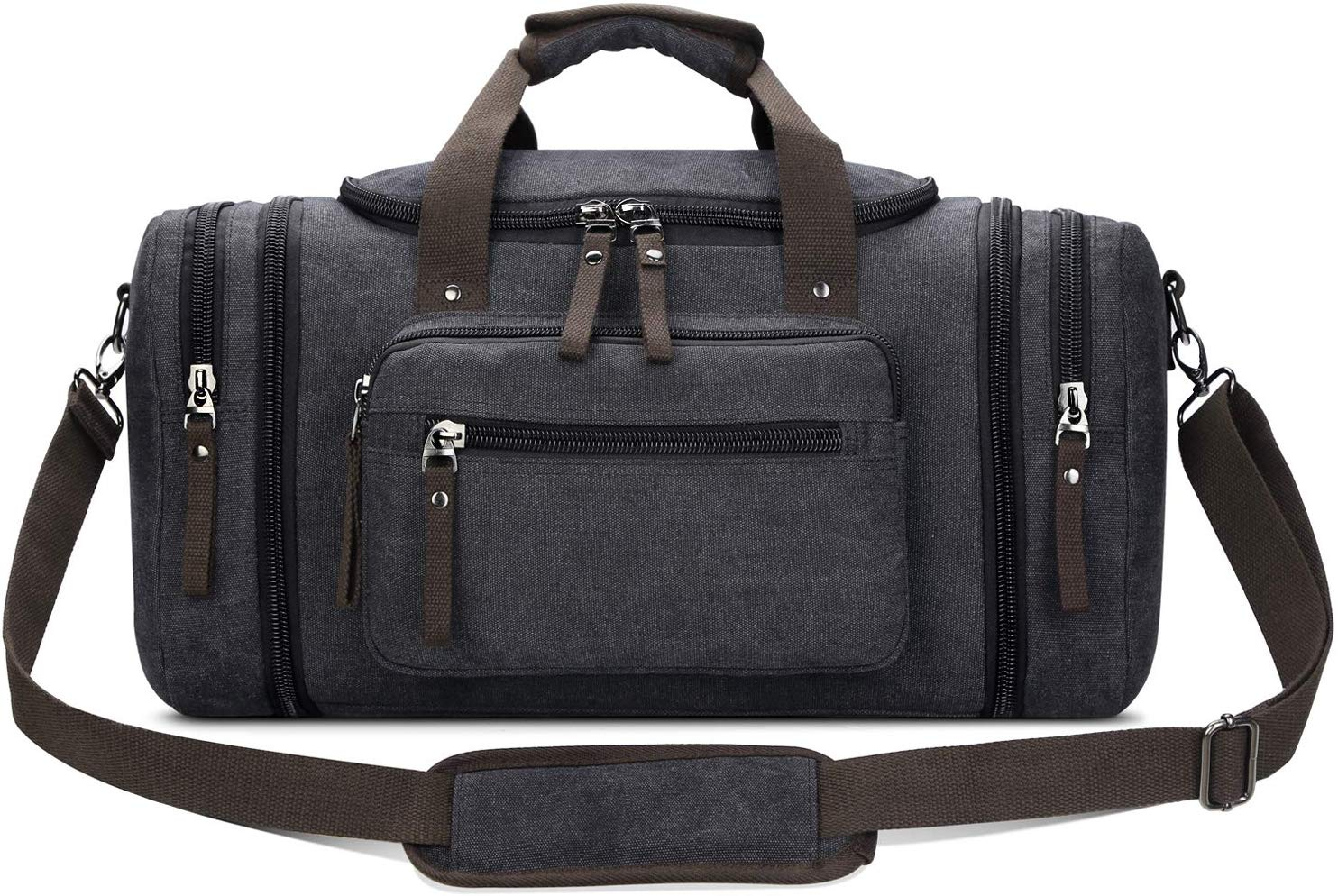 Toupons Travel Duffel Bag for Men Canvas Overnight Weekend Bag