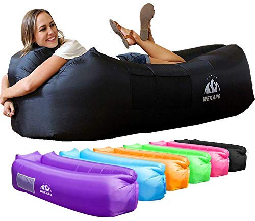 WEKAPO Inflatable Lounger Air Sofa Hammock-Portable,Water Proof& Anti-Air Leaking Design-Ideal Couch for Backyard Lakeside Beach Traveling Camping Picnics & Music Festivals by WEKAPO