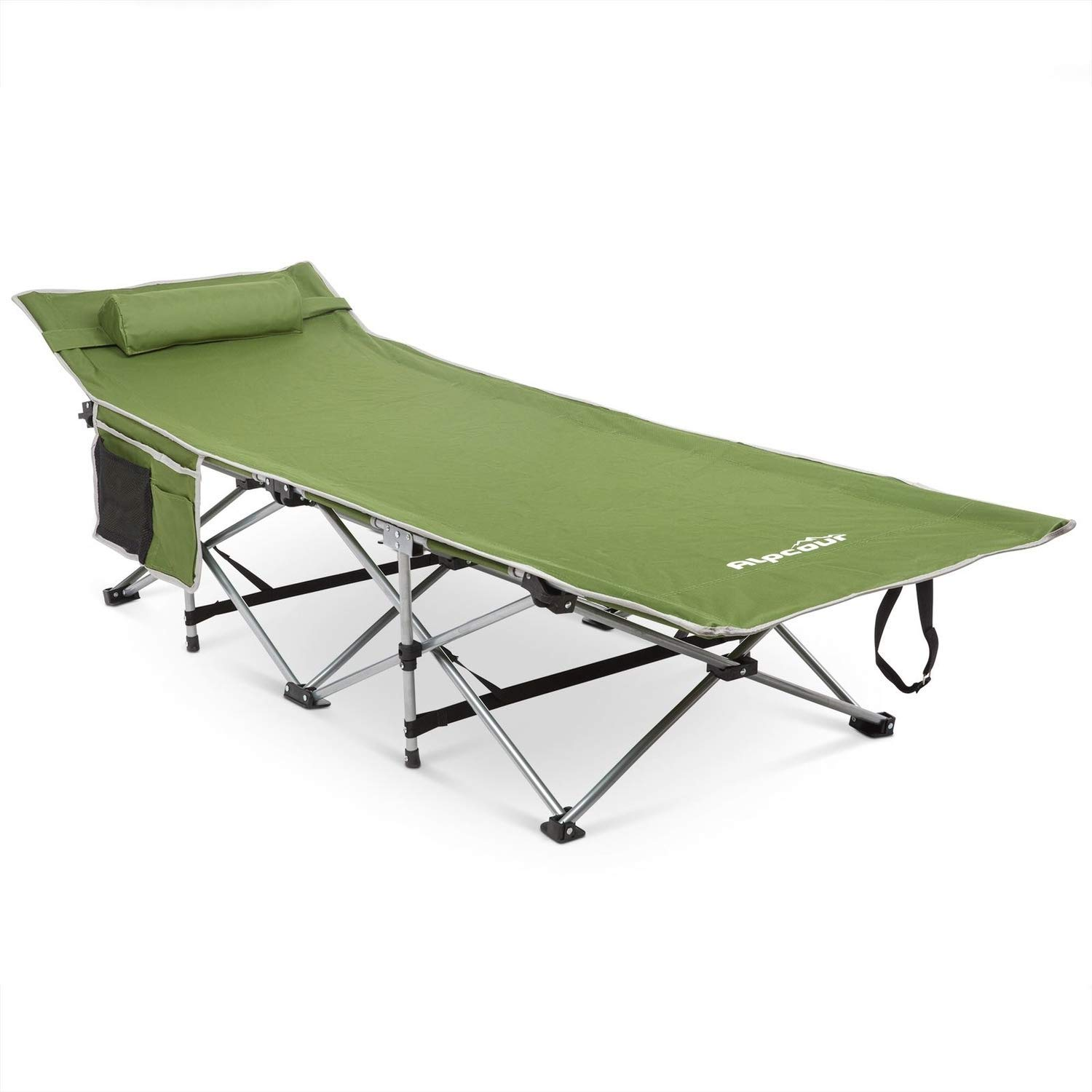 Double Layer Oxford Strong Heavy Duty Wide Sleeping Cots for Camp Office Use REDCAMP Folding Camping Cots for Adults 500lbs Portable with Carry Bag