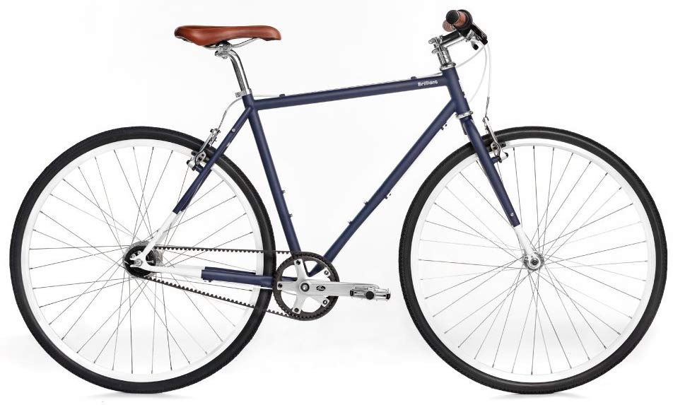 Brilliant Bicycles Co, L-Train, Gates Carbon Belt Drive, Shimano Nexus 7 Internally Geared Urban Commuter Bike